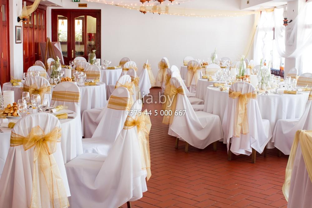 Украшения зала на золотую свадьбу 79
