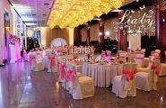 Украшение банкетного зала в дворце республики на свадьбу